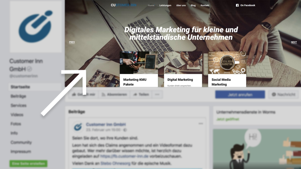 Customer Inn GmbH - Facebook Marketing für kleine Unternehmen - Die Bildgröße auf Facebook