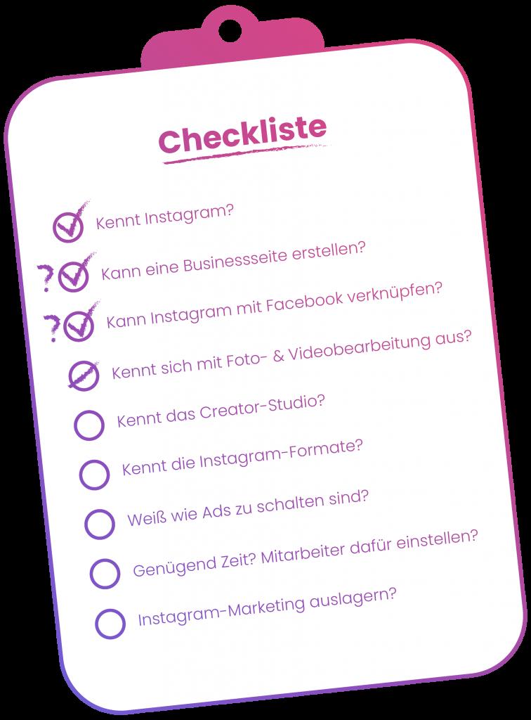Customer Inn: Was kostet Instagram Marketing - Checkliste