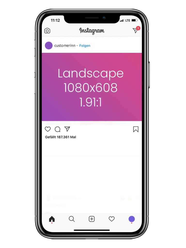 Customer Inn: Instagram - Landscape Format